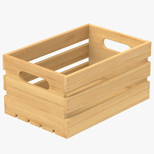 wooden crate wood 3D model