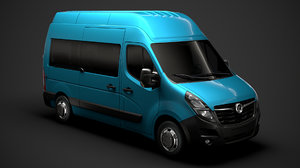 vauxhall movano l2h3 minibus 3D model