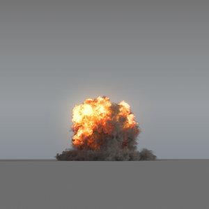 explosion - 01 vdb 3D model
