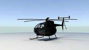 mh-6 little bird 3D model