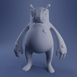 3D monster hugo - print