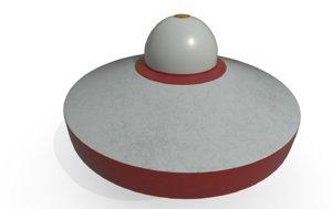 3D model ufo toy