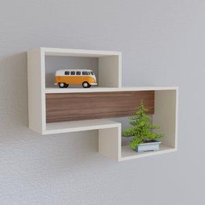 3D modern shelf unit