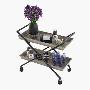bar cart model