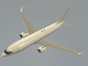 3D boeing 737-800bcf generic white