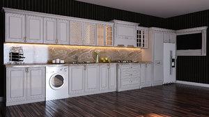 kitchen furniture interior design 3D model