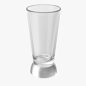 3D realistic shot glass