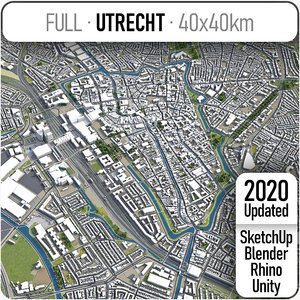3D utrech surrounding area - model