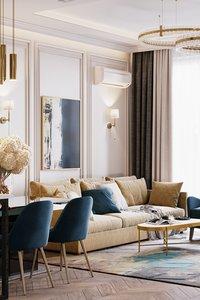 3D apartment interior design scene