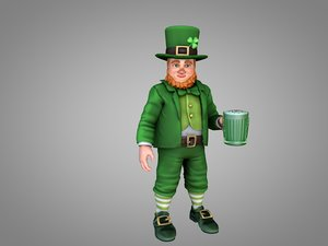leprechaun cauldron rainbow 3D model