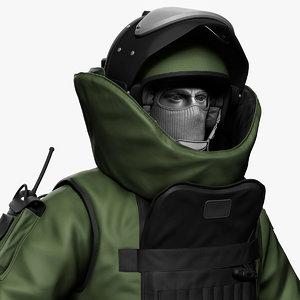 heavy bomb suit engineer 3D model