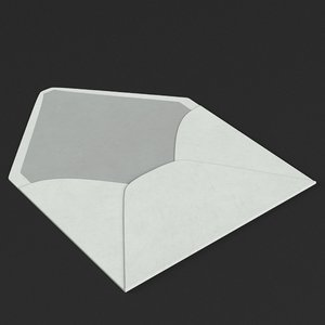 small envelope open 3D model