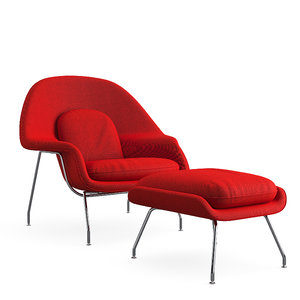 womb chair knoll 3D model