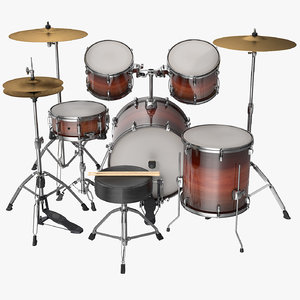 3D model acoustic drum kit