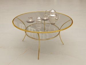 3D model golden coffee table
