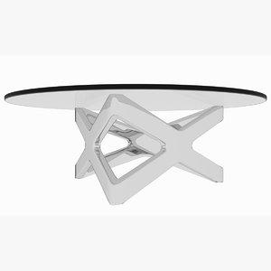 3D minimalist chrome x triangle model