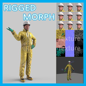 3D model workman safety