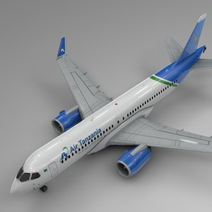 air tanzania airbus a220-300 3D model