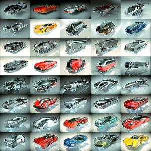 40 1 cool hover car 3D model