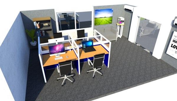 office concept 3D model
