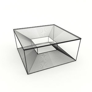 3D design coffee table