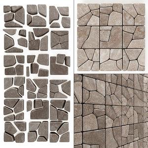 decor stone 3D