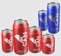 3D beverage drops model