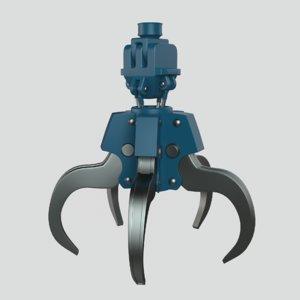 3D hydraulic grab