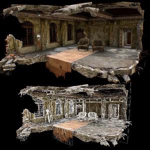 rooms interior model