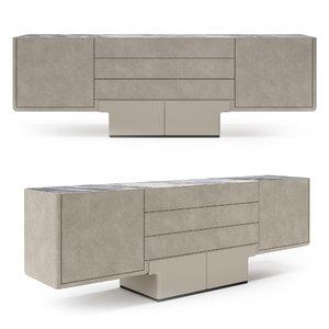 3D cabinet living room model