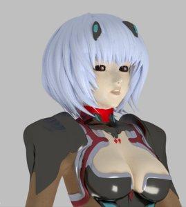 3D rei ayanami figure model