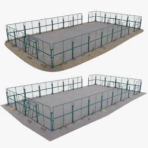 3D model sport playground soccer