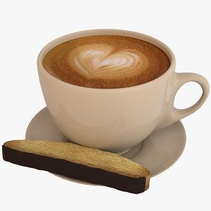 coffee latte art 3D model