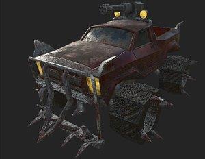 3D post apocaliptic suv military vehicle model