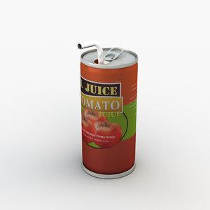 tomato juice 3D model