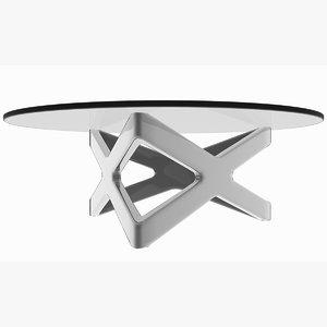 minimalist metal x triangle 3D