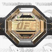 realistic ufc champion belt model
