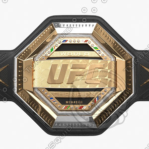 realistic ufc champion belt model