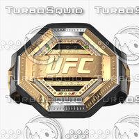 realistic ufc champion belt 3D model