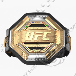 realistic ufc champion belt 3D model