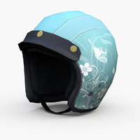 Light Green Motorcycle Helmet