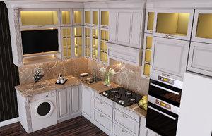 3D furniture interior design panel model