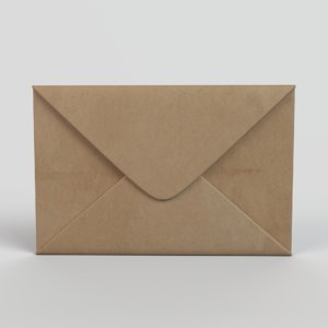 3D mail envelope