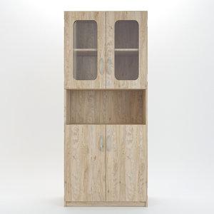 wood wooden cabinet 3D model