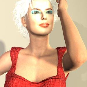 realistic tiia cw 3D model