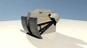 3D model dam
