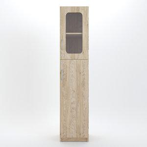 3D wood wooden cabinet model
