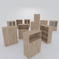 wood wooden cabinet model