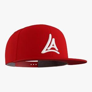 3D model snapback cap