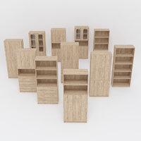 Wooden Cabinet Set 3